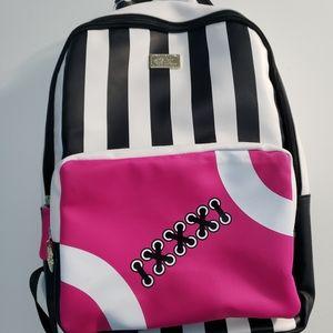 NWOT Betsey Johnson football backpack